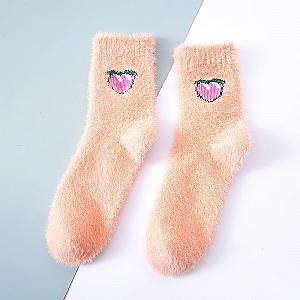 Шерстяные носки «Персик»