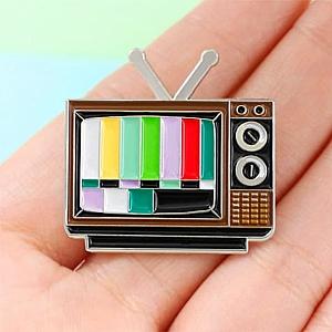Брошь-значок «Телевизор»