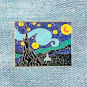 Брошь-значок «Звездная ночь»