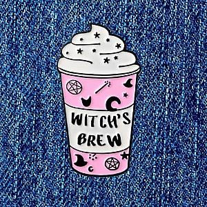 Брошь-значок «Witch's brew»