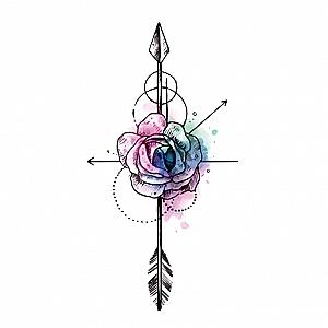 Временная татуировка «Flower»