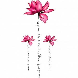 Временная татуировка «Flowers world»