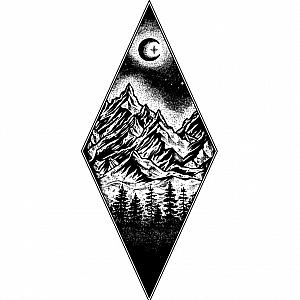 Временная татуировка «Nature in a triangle»