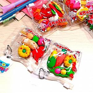 Набор стирательных резинок «Let's have a snack»