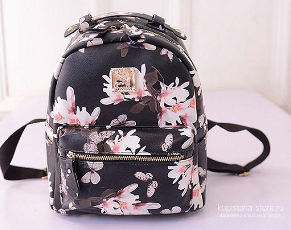 Рюкзак из кожзама «Flowers»