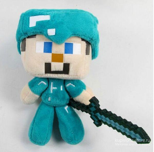 Мягкая игрушка «Стив из игры Minecraft»