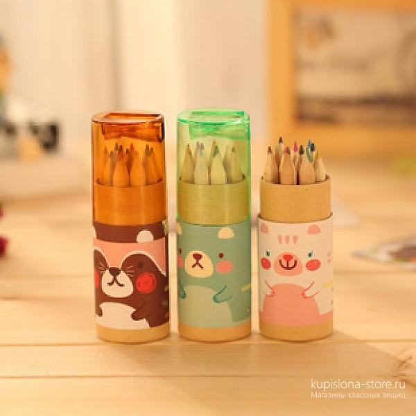 Набор карандашей с точилкой «Animals»