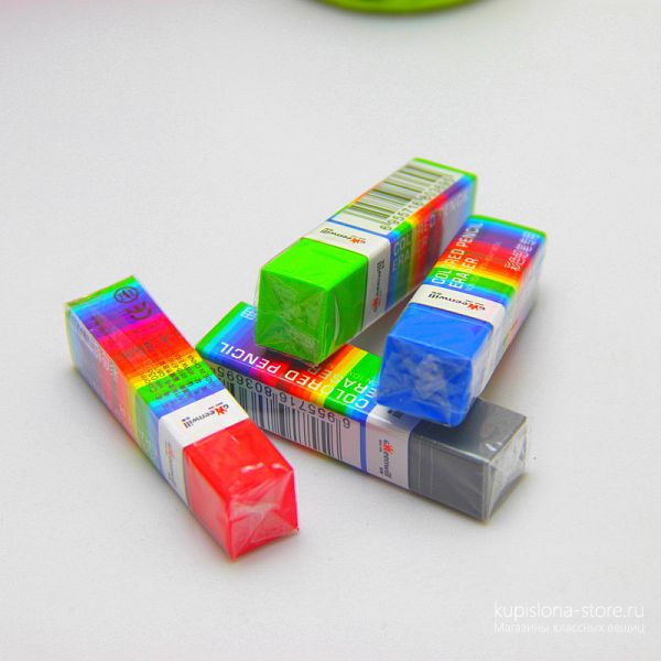 Стирательная резинка для цветных карандашей