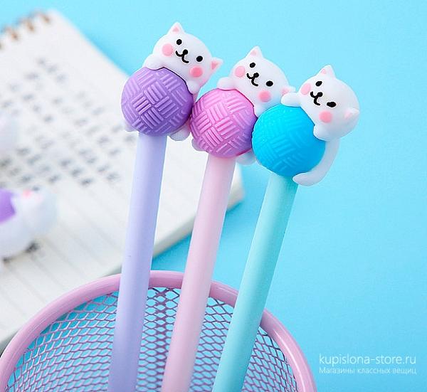 Ручка «Котик с клубком»