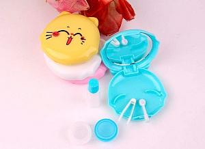 Футляр для хранения контактных линз «Котик»