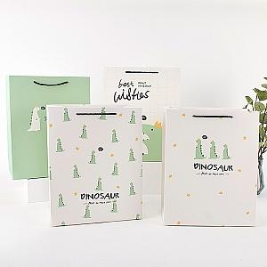 Подарочный пакет «Green dinosaur» большой