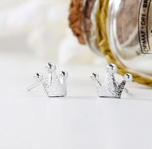 Серьги-гвоздики «Crown»
