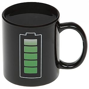 Кружка с терморисунком «Батарейка»
