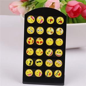 Серьги-гвоздики «Emoji»