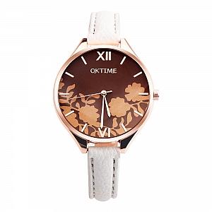 Наручные часы «Brown flowers»