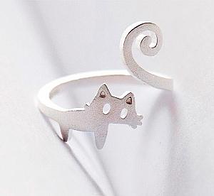Кольцо «Хвостатый кот»