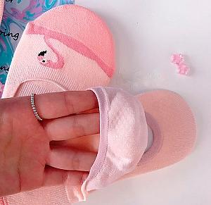 Носки-следки «Pink flamingo»