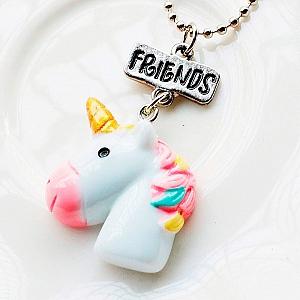 Парные подвески «Rainbow unicorns»