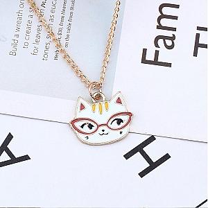 Подвеска на цепочке «Котик в очках»