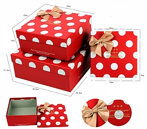 Подарочная коробка «Горошек» маленькая