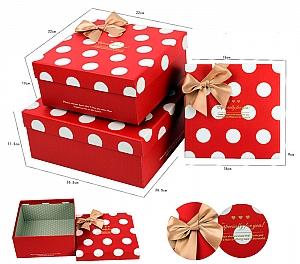 Подарочная коробка «Горошек» большая