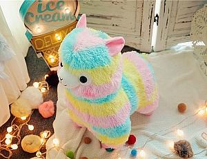Мягкая игрушка «Радужная лама» большая
