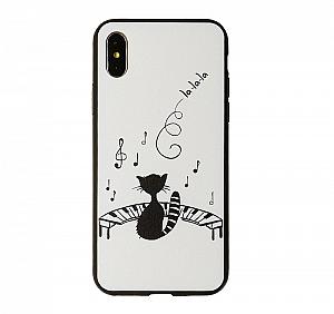 Чехол для iPhone «Поющий котик»