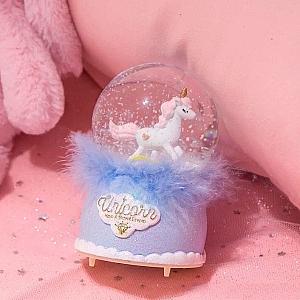 Стеклянный шар «Unicorn have a sweet dream»