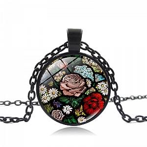 Кулон на цепочке «Цветы в саду»