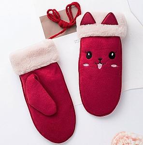 Варежки «Улыбающийся котик»