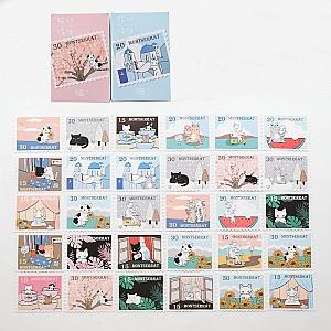Набор почтовых открыток «Cat's travel time»