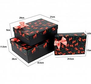 Подарочная коробка «Красный леопард» большая