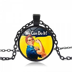 Кулон на цепочке «We Can Do It»