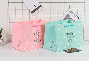 Подарочный пакет «Happy go lucky» маленький