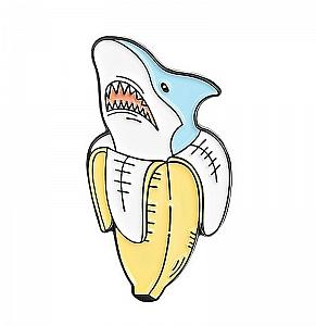 Брошь-значок «Акула»