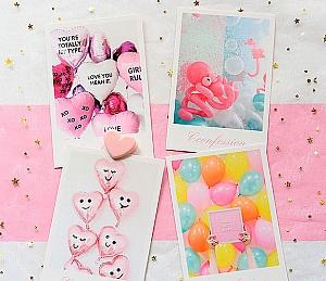 Набор почтовых открыток «Воздушные шарики» большой