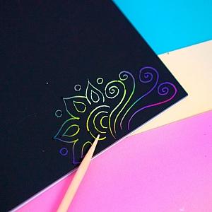 Тетрадь «Rainbow scratch note»