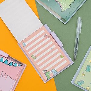 Блокнот с ручкой «Динозаврики»