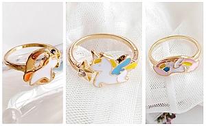 Кольцо «Единорожек»