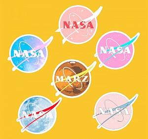 Набор наклеек «NASA»