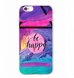 Чехол для iPhone «Be happy»