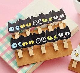 Прищепки «Черный кот»