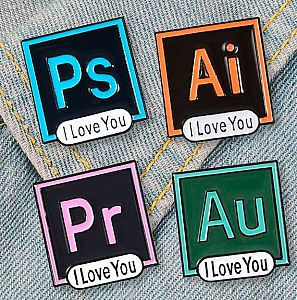 Брошь-значок «Adobe application»