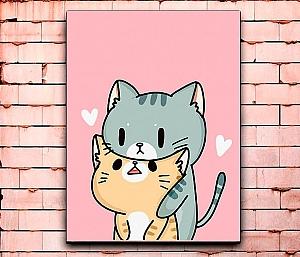 Постер «Cats love» средний