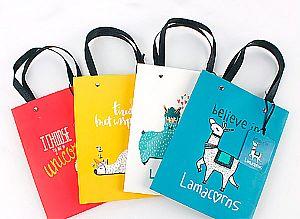 Подарочный пакет «Lama» средний