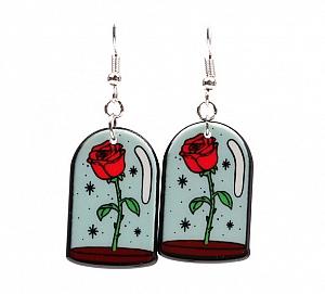 Серьги «Красная роза»