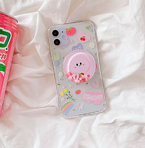 Чехол для iPhone с попсокетом «Персик»