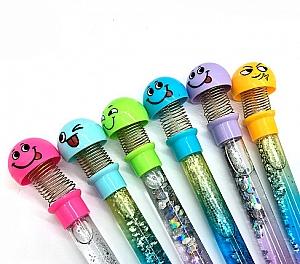 Ручка с блестками «Попрыгунчик»
