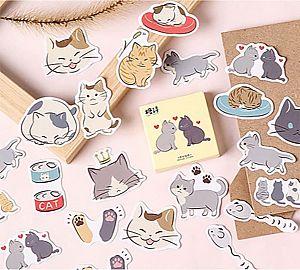 Набор наклеек «Cat love»