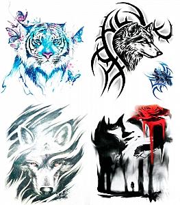 Временная татуировка «Fantasy world» (большая)